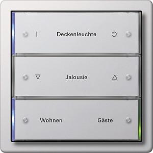 Tlačítkový senzor 3, 3-nás., F100 bílá lesklá
