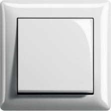 Gira Standard 55, čistě bílá, lesklá
