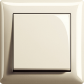 Gira Standard 55, krémově bílá, lesklá
