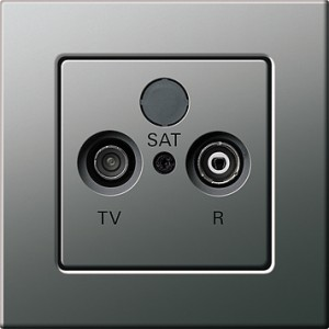 E22 televizní zásuvka, nerez