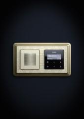 ClassiX Art podomítkové rádio RDS, bronz-krémová