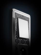 Gira ClassiX Art chrom černá