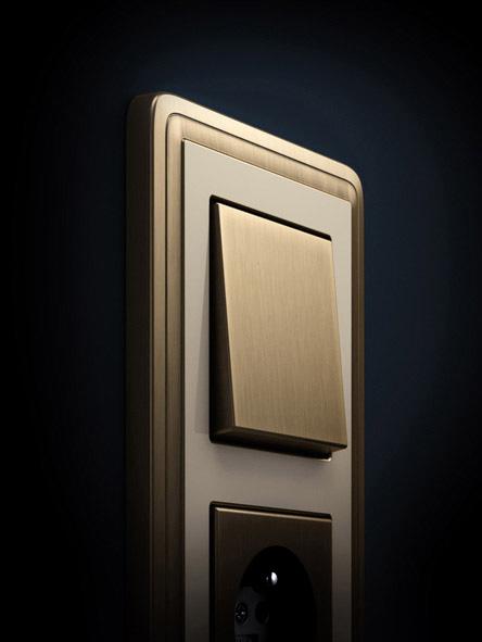 Gira ClassiX bronz – krémová