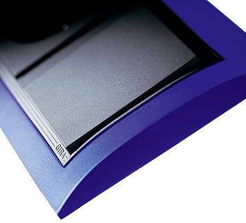 Event Opak modrá/ antracit, zásuvka a vypínač