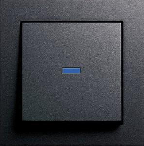 Kontrolní tlačítko s LED osvětlení, E2 antracit