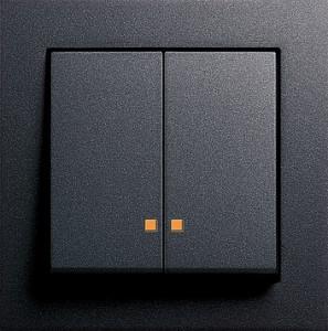Sériový vypínač s LED kontrolkou, E2 antracit