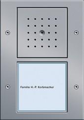 Vstupní stanice podomítková 1 násobný, TX_44 alu