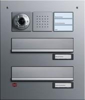 RENZ pošt. schránka,alu, osazená dveř. podomít. telefonem s barev. kameru a volacím tlačítkem 3x