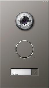 Dveřní telefon nerez 1 násobný s kamerou