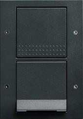 TX_44 vypínač se zásuvkou s klapkou, antracit