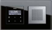 Esprit podomítkové rádio RDS, sklo černá/ alu