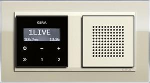 Event Klar podomítkové rádio RDS písková/ krémově bílá