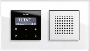 Esprit podomítkové rádio RDS, sklo bílá/ bílá lesklá