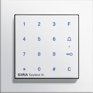 Kódovací klávesnice Keyless In, E2 bílá lesklá