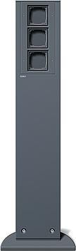 Energetický sloupek se 3 volnými jednotkami , 491 mm, antracit