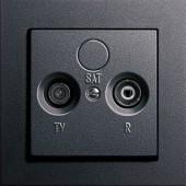 Televizní zásuvka, E2 antracit