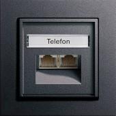 Univerzální-/ISDN UAE zásuvka, E2 antracit