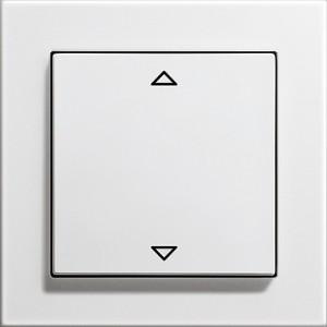 Žaluziové tlačítko, E2 bílá lesklá