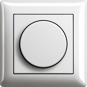 Otočný stmívač, Standard 55 bílá lesklá