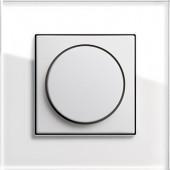 Otočný stmívač,Esprit sklo bílá/ bílá lesklá