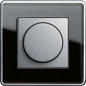 Otočný stmívač, Esprit sklo C černá/ alu
