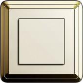 Tlačítkový stmívač, ClassiX mosaz/ krémová