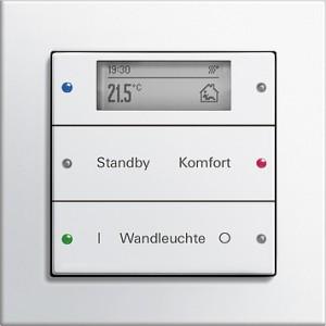 Tlačítkový senzor 3 Plus, 2-nás., E2 bílá lesklá