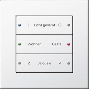 Tlačítkový senzor 3 Komfort, 3-nás., E22 bílá (termoplast)