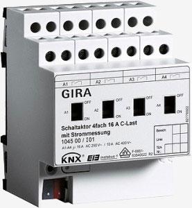 Spínací člen 4x16 A KNX/EIB s C-zatížením