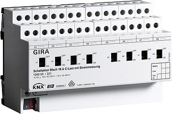 Spínací člen 8×16 A KNX/EIB s C-zatížením