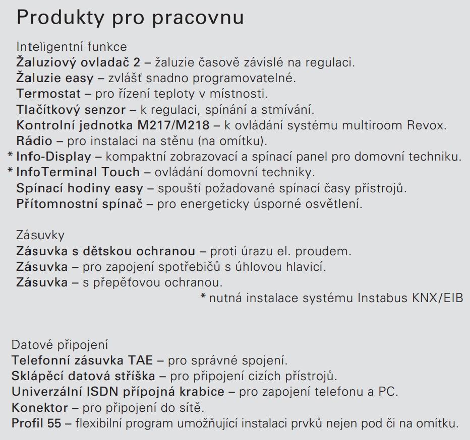 produkty pro pracovnu
