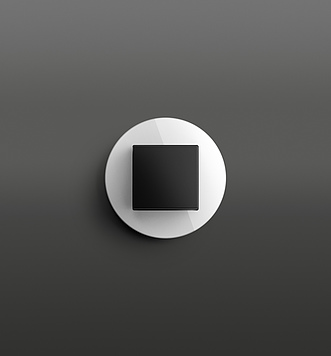 Gira Studio bílé sklo