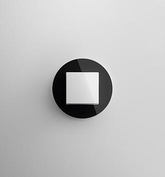 Gira Studio černé sklo
