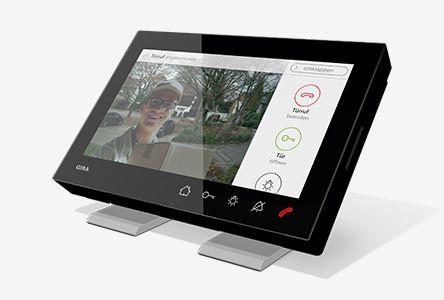 Bytová stanice video AP 7 černé sklo s podstavcem