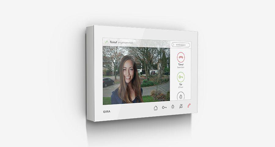 Bytová stanice video AP 7 bílé sklo